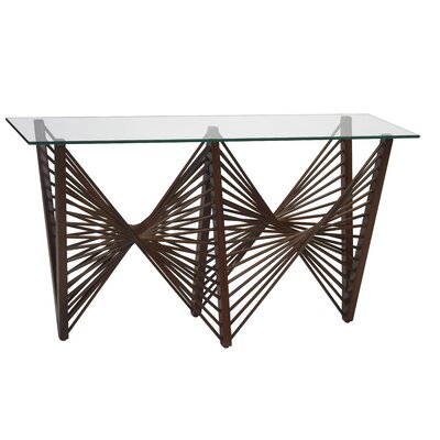 Geo Console Table Finish: Dark Brown
