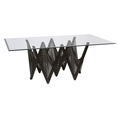 Geo Dining Table Base Finish: Dark Brown