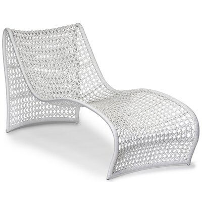 Lola Outdoor Chaise Finish: White