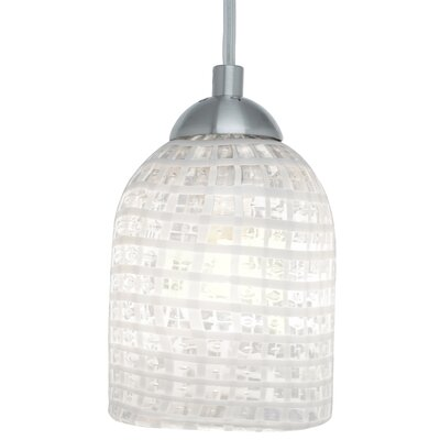 Bimbi 1-Light Low Voltage Pendant Finish: Satin Nickel, Canopy Type: Flat Round