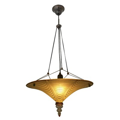 Bodrum Suspension 1-Light Bowl Pendant