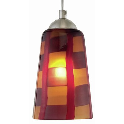 Carnevale 1-Light Mini Pendant Finish: Satin Nickel, Canopy Type: Flat Round