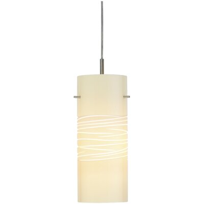 Dune 1-Light Mini Pendant Finish: Satin Nickel, Shade Color: Sand, Canopy Type: Dome, Transformer, No Jack