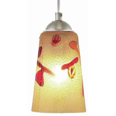 Carnevale 1-Light Mini Pendant Finish: Dark Bronze, Canopy Type: Flat Round