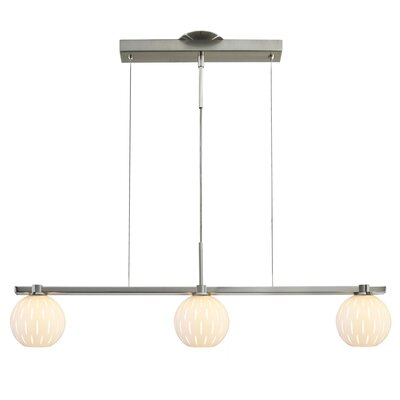 Firefly 3-Light Kitchen Island Pendant Shade Color: White / Clear