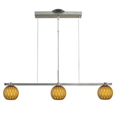 Firefly 3-Light Kitchen Island Pendant Shade Color: Mocha / White