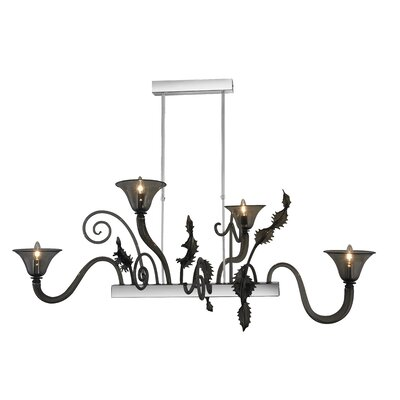 Fenice 4-Light Candle-Style Chandelier Finish: Red