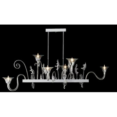 Fenice 6-Light Candle-Style Chandelier Finish: Red