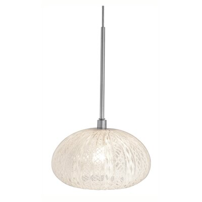 Urchin Rimini 1-Light Mini Pendant Finish: Satin Nickel, Canopy Type: Flush Round