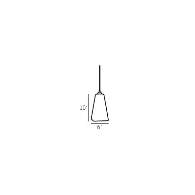 San Marco 1-Light Mini Pendant Type: 10 H x 6 W/Dark Pewter/White/E26