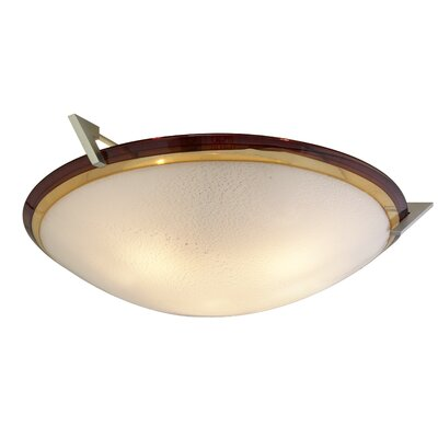 Pie in the Sky 3-Light Bowl Pendant Color: Amber / Amethyst