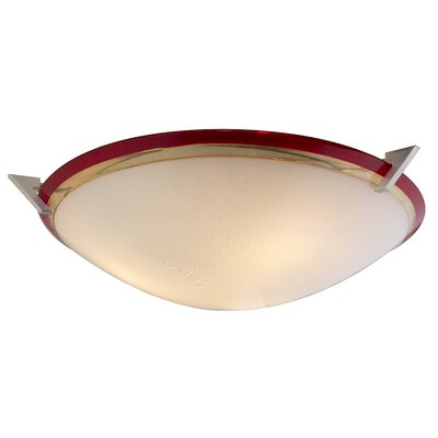 Pie in the Sky 3-Light Bowl Pendant Color: Amber / Red