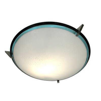 Pie in the Sky 3-Light Bowl Pendant Color: Azzuro / Black