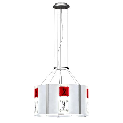 Appliquations 5-Light Drum Pendant Shade Color: Multi