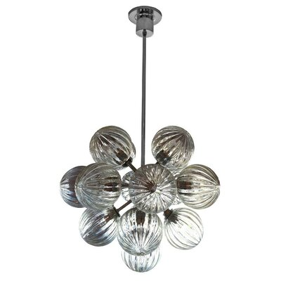 Perle 17-Light Cluster Pendant Color: Amber Dark