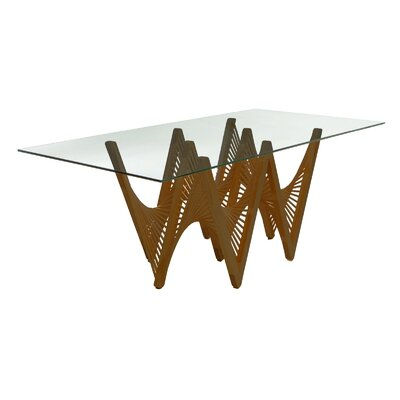 Geo Dining Table Base Finish: Medium Brown