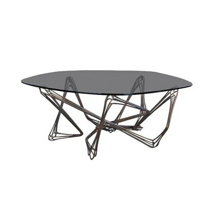 Vico Coffee Table Top Finish: Bronze