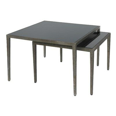 Strip 2 Piece Nesting Tables Finish: Black