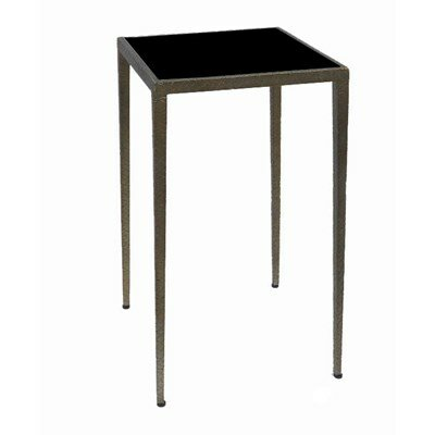 Strip End Table Top Finish: Black