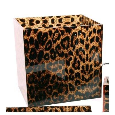 Leopard Waste Basket 14-1089