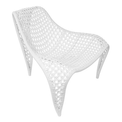 Wing Lounge Chair Upholstery: White