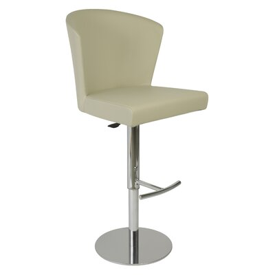 Verona Adjustable Height Swivel Bar Stool Upholstery: Taupe