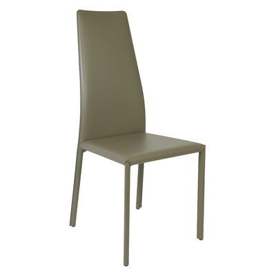 Trevis Genuine Leather Upholstered Dining Chair Finish: Taupe