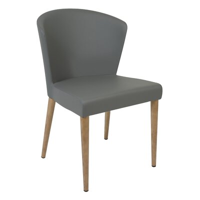 Verona Upholstered Dining Chair Finish: Oak, Upholstery: Gray