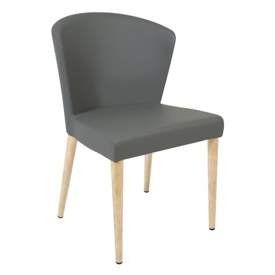 Verona Upholstered Dining Chair Finish: Unfinished, Upholstery: Gray