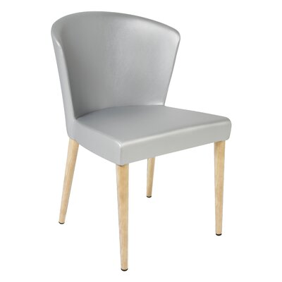 Verona Upholstered Dining Chair Finish: Unfinished, Upholstery: Silver