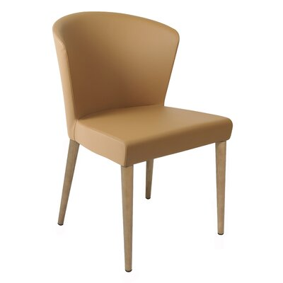 Verona Upholstered Dining Chair Finish: Oak, Upholstery: Saddle