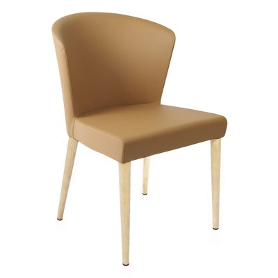 Verona Upholstered Dining Chair Finish: Unfinished, Upholstery: Saddle