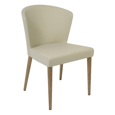 Verona Upholstered Dining Chair Finish: Oak, Upholstery: Taupe