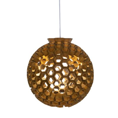 Constella 1-Light Globe Pendant Finish: Dark Bronze