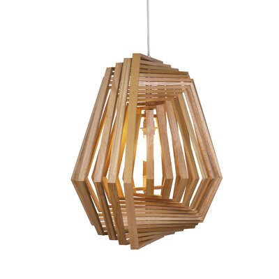 Twist 1-Light Geometric Pendant Finish: Satin Nickel