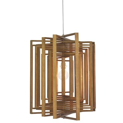 Twist 1-Light Foyer Pendant Finish: Dark Bronze