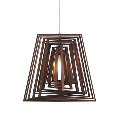 Twist 1-Light Geometric Pendant Finish: Dark Bronze