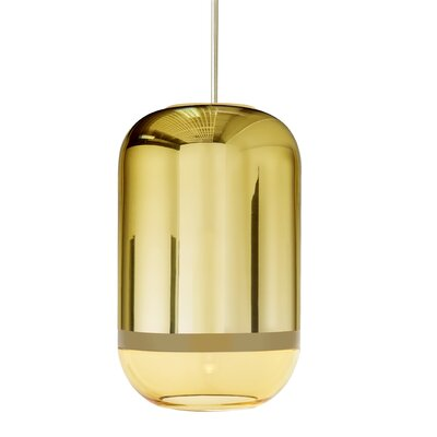 Magica 1-Light Drum Pendant Finish: Gold