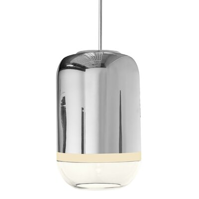 Magica 1-Light Drum Pendants Finish: Silver