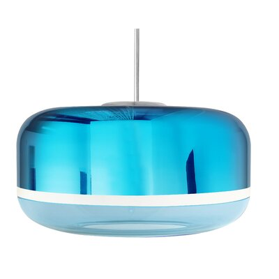 Magica 2-Light Drum Pendant Finish: Aqua