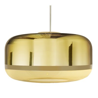 Magica 2-Light Drum Pendant Finish: Gold