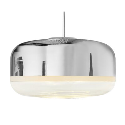 Magica 2-Light Drum Pendant Finish: Silver