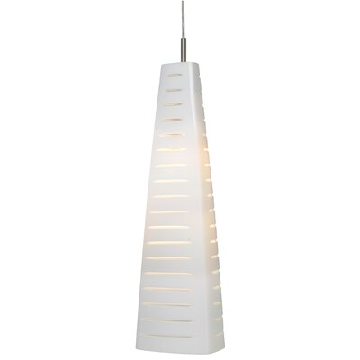 Mesa 1-Light Mini Pendant Finish: White/Clear