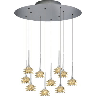 Mimosa 10-Light Cluster Pendant Shade Color: Gold