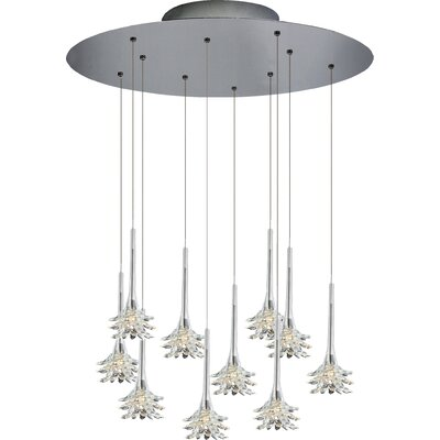 Mimosa 10-Light Cluster Pendant Shade Color: Clear