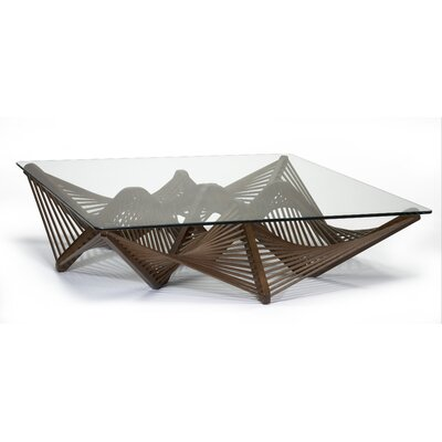 Geo Coffee Table Color: Medium Brown