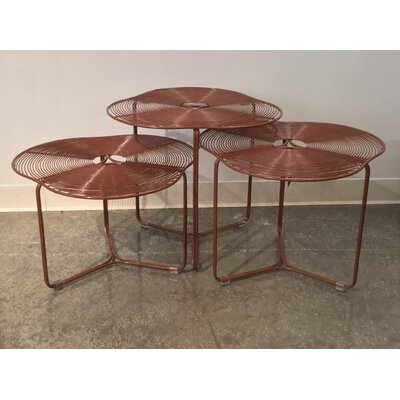 Schema a Cote 3 Piece Coffee Table Set Color: Orange