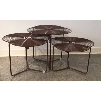 Schema a Cote 3 Piece Coffee Table Set Finish: Monks Robe