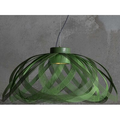 Schema 1-Light LED Inverted Pendant Finish: Green