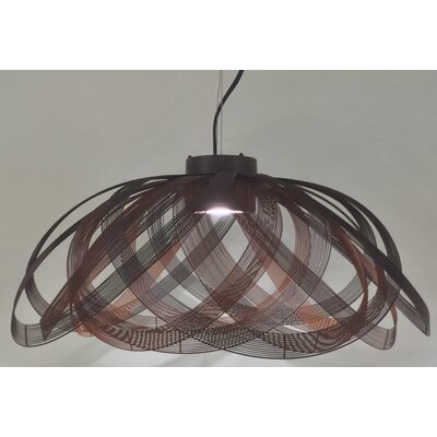 Schema 1-Light LED Inverted Pendant Finish: Orange
